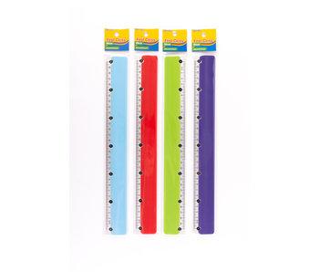 Lineaal 30 cm aluminium + plastiek FCL
