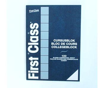 Cursusblok A4 100 Bladen Commercieel geruit 70 gr FC