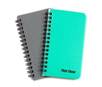 FC Lot de 2 cahiers à spirales PP 60 Feuilles 80x140 à carreaux