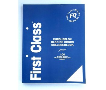 Cursusblok A5 100 Bladen Geruit 70 gr