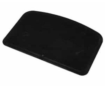 Deegschraper en-snijder zwart 14.8x9.9 cm