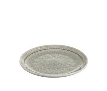 Assiette Céramique Boho Gris Medium