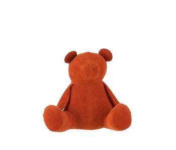 J-Line Butoir de porte Bear Matt Velvet Orange Medium