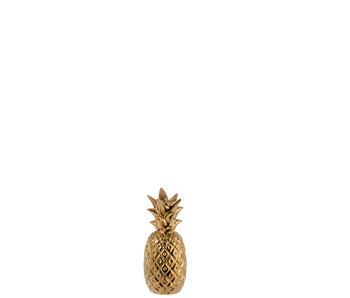 Kandelaar Ananas Poly Goud Small
