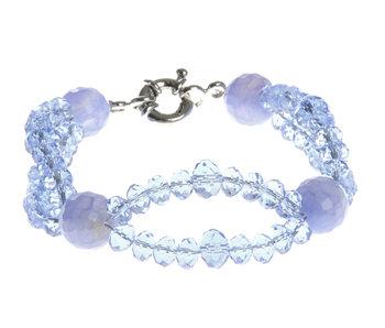 J-Line Bracelet Double Cristal L.Bleu