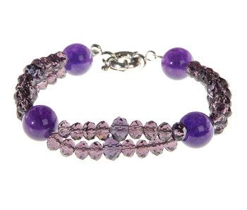 J-Line Bracelet Double Cristal Violet