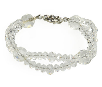 J-Line Bracelet Double Crystal Ready
