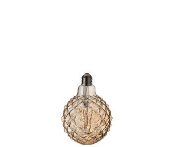 Ampoule LED Ambre g125 Filament Géométrique e27