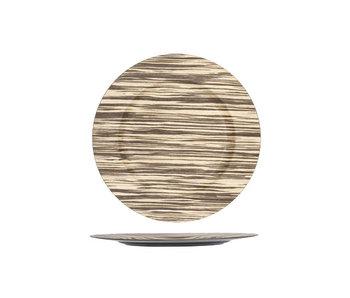 Assiette Woodook ronde 33x33xH2 cm plastique