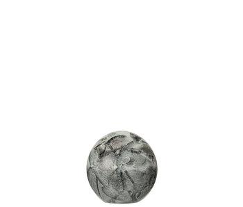 J-Line Presse papier wit/zwart small 8x8x8cm