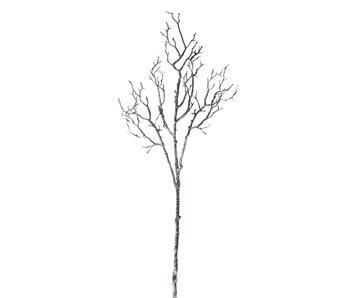 Branche Arbre Nu Plastique Marron Foncé/Blanc Large