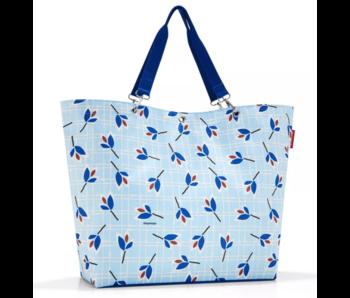 Reisenthel shopper XL feuilles bleu