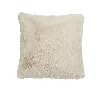 J-Line Coussin Cutie polyester gris clair