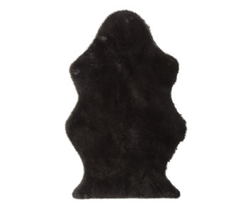 Tapis De Sol Mouton Fausse Fourrure Noir