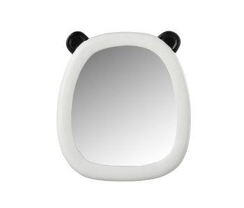 Spiegel Panda Oortjes Polyresine Zwart/Wit