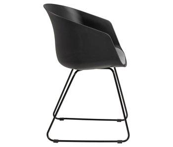 Moon 40 stoel - zwart - metalen onderstel