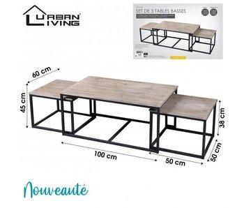 Set/3 tables d'appoint