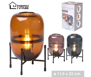 Spirit lamp orange - met voet - 25hx11cm