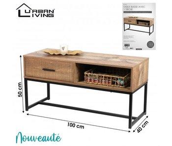 Table basse avec 1 tiroir 100x40xH49cm