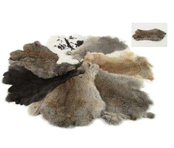 Fourrure de lapin marron gris mix / max 43 cm - Chandler Mix