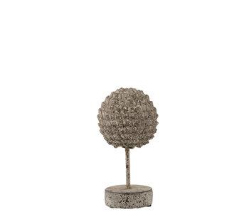 J-Line Statue Sur Pied Pomme De Pin Ciment Gris