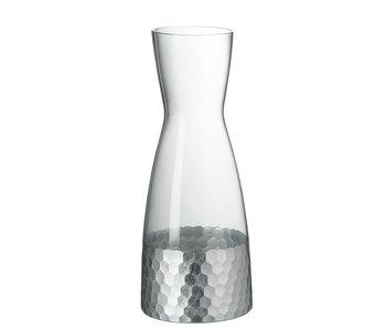 Karaf Water Glas Transparant/Zilver