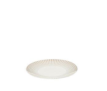 Assiette Boule Céramique Blanc/Or