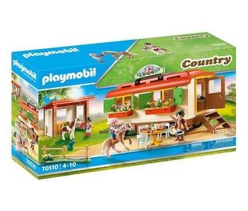 Playmobil 70510 Camp de poney avec remorque