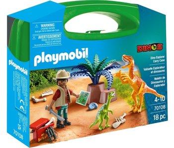 Playmobil 70108 mallette de transport Dino Explorer