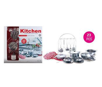 Set de casseroles en métal 23pcs - cuisine