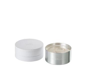 Geurkaars Simplicity Wax Wit/Zilver-30u
