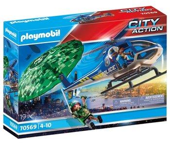 Playmobil 70569 Hélicoptère de police : poursuite en parachute