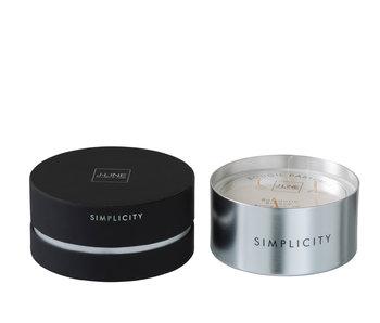 Geurkaars Simplicity Wax Zwart/Zilver-30u