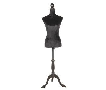Clayre & Eef Decoratie paspop zwart 38x40x165 cm