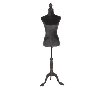 Clayre & Eef Mannequin déco noir 38x40x165 cm