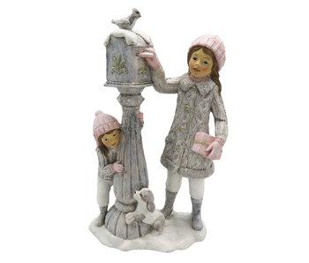 Decoratie kinderen bij brievenbus 13*7*22 cm