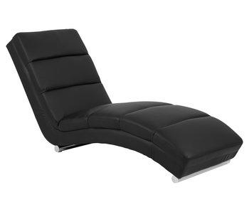 Chaise longue PU - noir