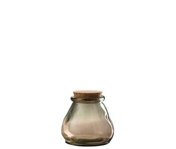 J-Line Voorraadpot Glas Lichtbruin Small