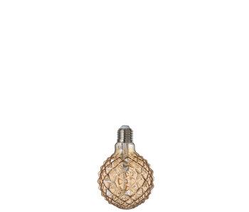 Ampoule LED Ambre g80 Filament Géométrique e27