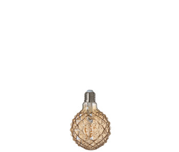 Ledlamp Amber g80 Filament Geometrical e27