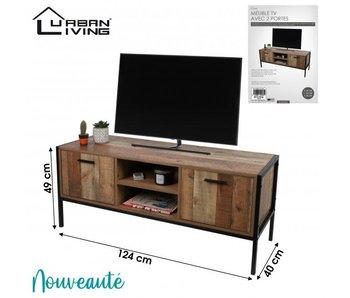 Meuble TV avec 2 portes 124x40xH49cm