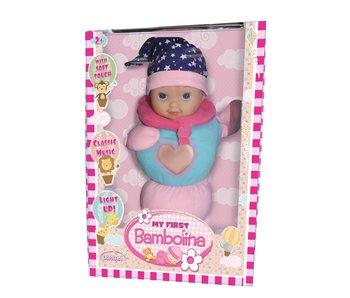 Dimian Ma première poupée Bambolina rose/bleu - avec lumière et son 2+