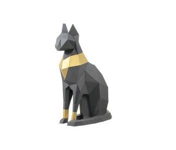 3D Papiervouwen - Kat (17.7x5.9x12.6 cm)