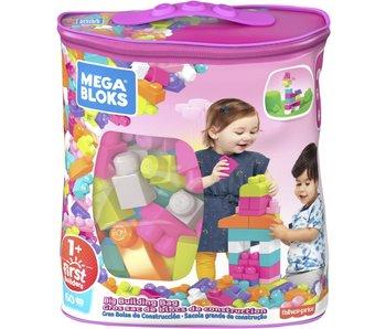 Grand Sac de Construction Classique Mega Bloks 60 pcs - rose