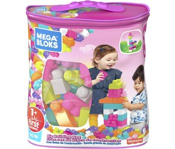 Grote Bouwtas Classic Mega Bloks  60 pcs - roze