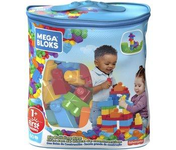 Grote Bouwtas Classic Mega Bloks  60 pcs - blauw
