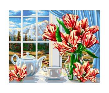 Peinture à numéros : Autumm Tea / 40x50cm / 24 couleurs