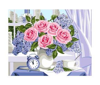Peinture par numéros : Lovely Awakening / 40x50cm / 24 couleurs