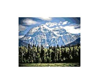 Peinture par numéros : Kit Montagnes / 40x50cm / 24 couleurs