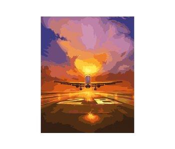 Peinture par numéros : Vol / 40x50cm / 24 couleurs